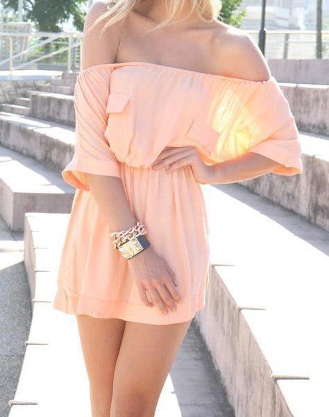 Beautiful combinations on dresses that will help you in choosing the models for this summer