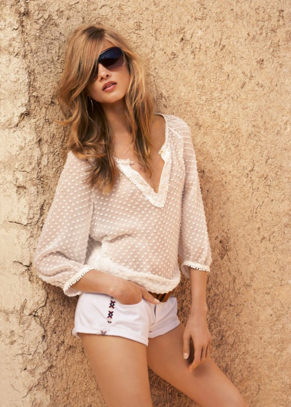Anna Selezneva for Mango summer  Catalog