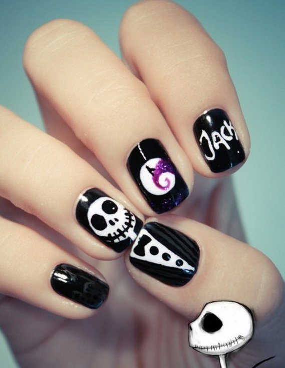 22 Simple And Cute Halloween Nail Art Ideas