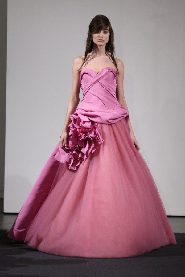 VERA WANG FALL 2014, IN THE PINK