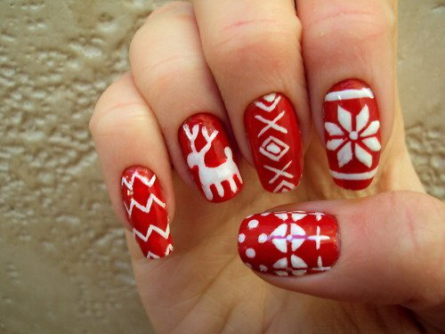 27 christmas nail design - Christmas Nail Decorations