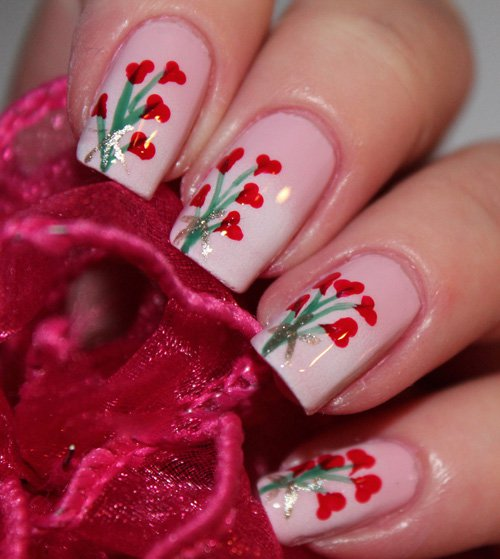 16 Sweet and Lovely Valentines Day Nail Art Design Ideas