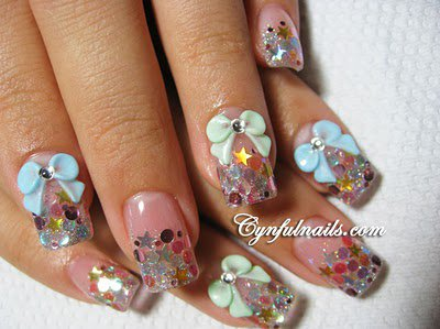 Fancy Nail Art Designs With Ties