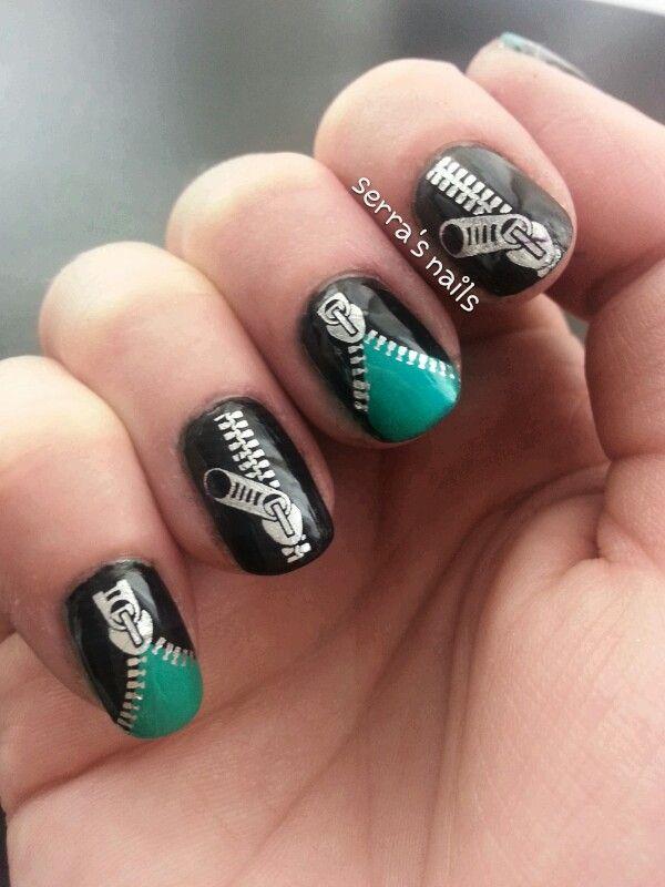 Top 25 Zipper Nail Art Designs