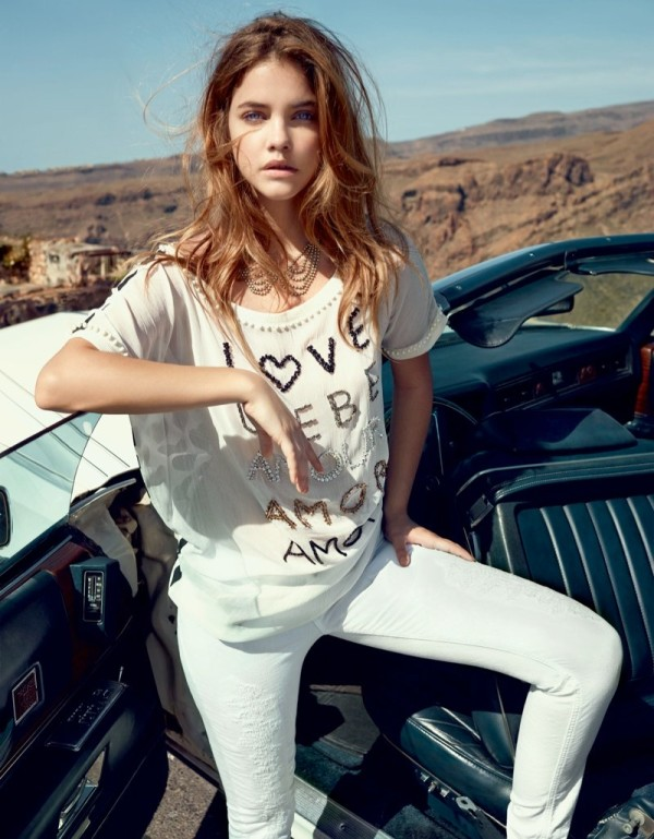 Barbara Palvin is a Denim Babe in Twin Set Jeans Spring 2014