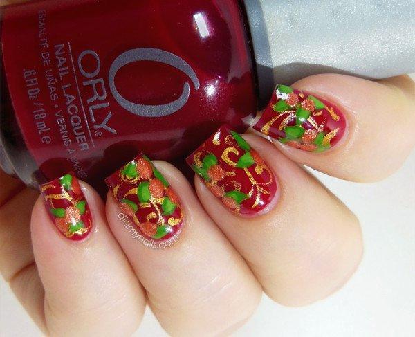 25 Amazing Flower Nail Art Designs