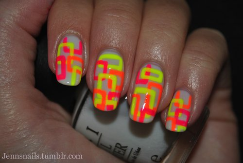 21 Cool Amp Trendy Neon Nail Art Designs