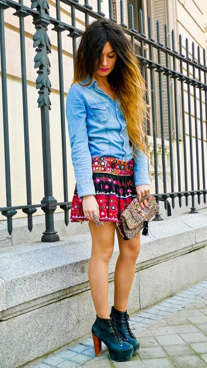 23 Casual And Stylish Street Style With Denim Shirts