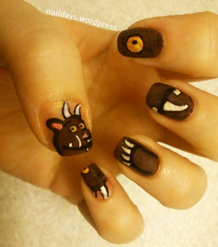 Easy And Simple Zoo Animals Nail Art Designs