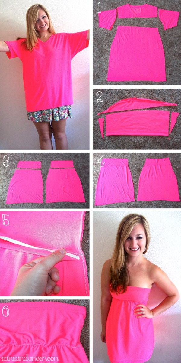 How To Make a Beautiful Dress From Simple T- Shirt
