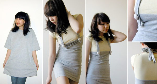 How To Make a Beautiful Dress From Simple T  Shirt