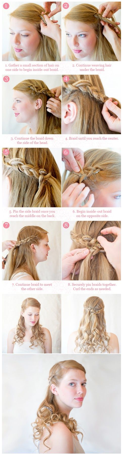 15 very amiable and very simple diy hairstyle tutorials diy inside out half up braid hairstyle diy fashion tips solutioingenieria Choice Image