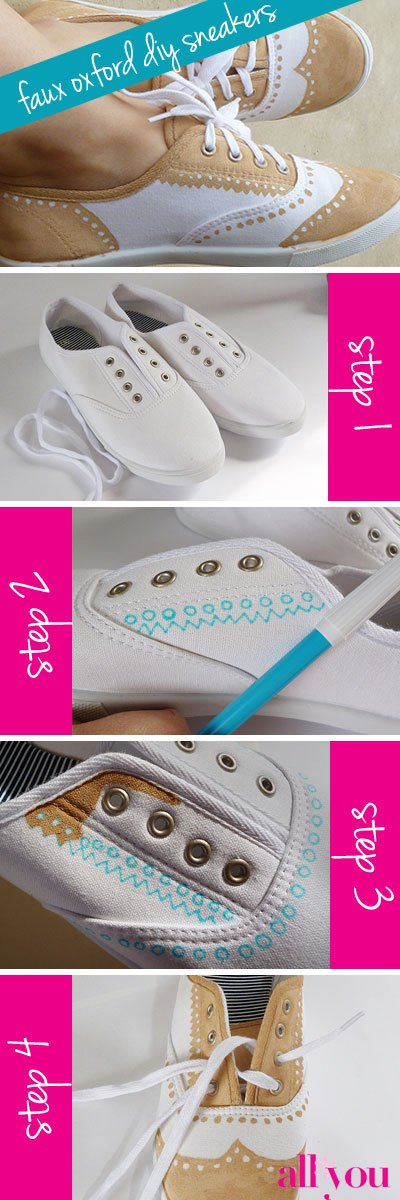20 Amazing DIY Sneakers Makeover Ideas