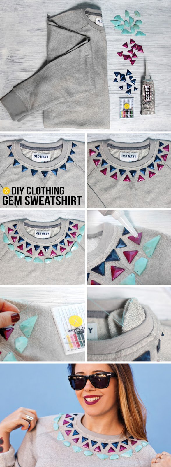 Lovely DIY Project To Renew Your Old Shirts
