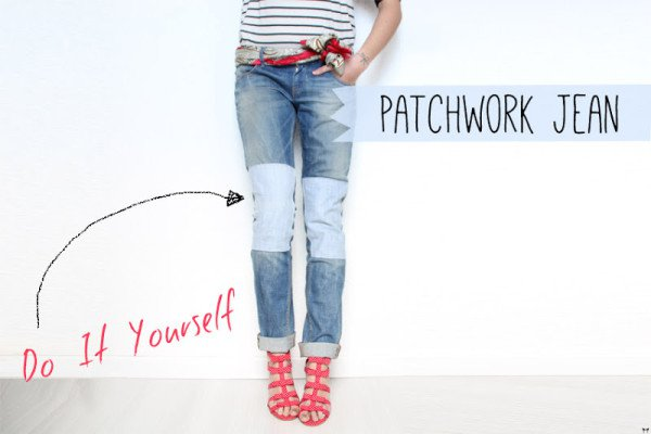 Truly awesome diy ideas to renew your old jeans patchwork jean diy solutioingenieria Gallery