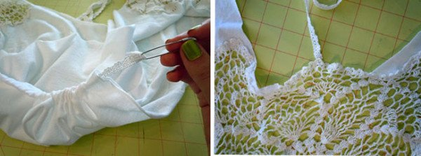 10 Perfect DIY Ideas For Embellishment Your T   Shirt Using A Lace Doily