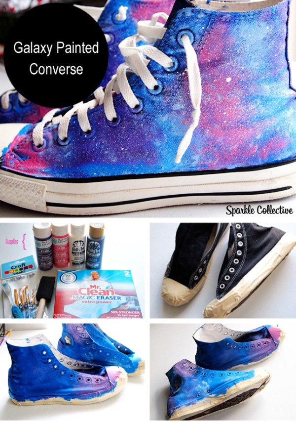 916760bda8f2 DIY Galaxy Painted Converse Tutorial
