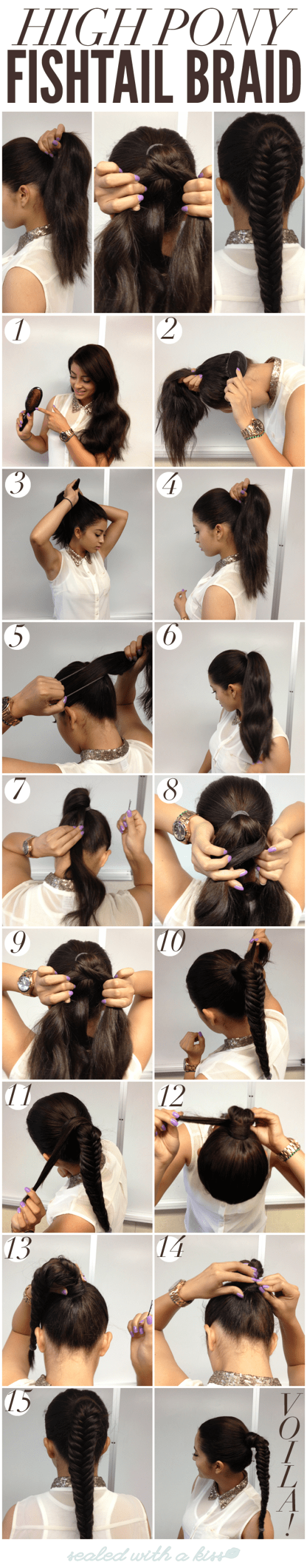 15 Simple Hairstyle Ideas Ready For Less Than 2 Minutes and Looks Fantastic