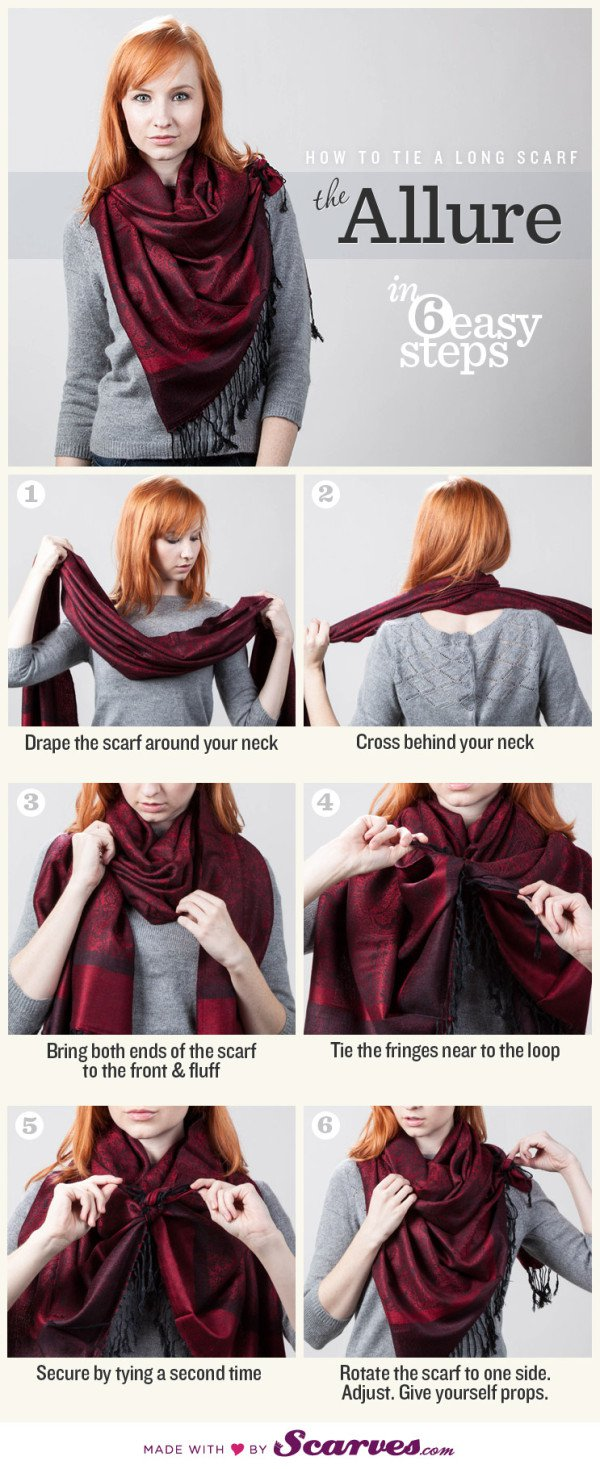 10 Stylish and Simple Ways To Tie A Scarf That You Should Know