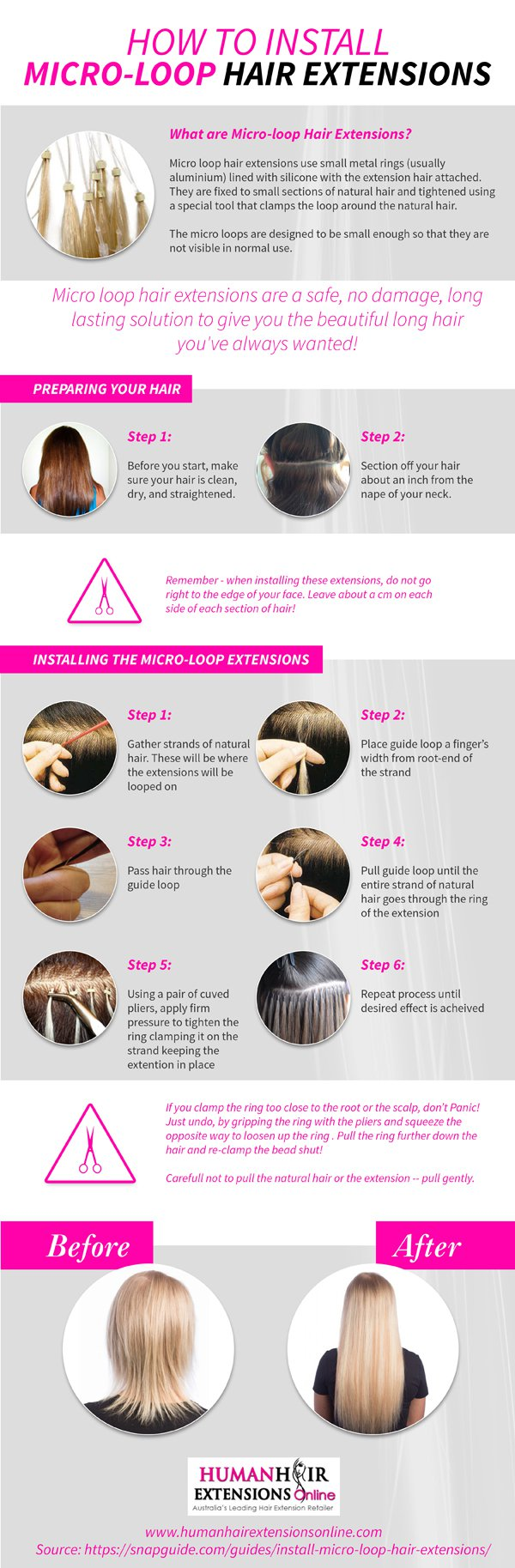 How To Instal Micro   Loop Hair Extension