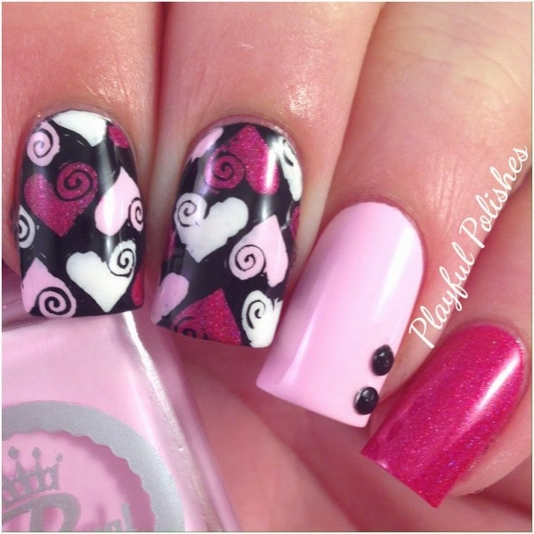 Valentines Day   19 Fantasitc Manicure Ideas