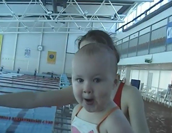 Amazing, 21 Month Old Baby Swims Like a Fish