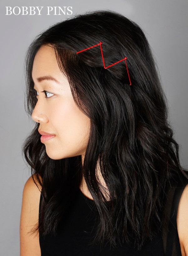 14 Fantastic And Easy Hairstyles You Can Create With Colored Bobby Pins