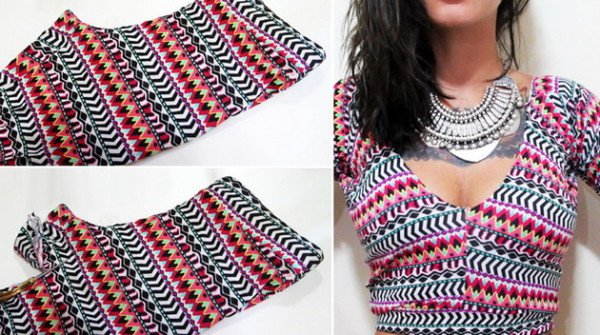 She Cuts A Pair Of Leggings And Creates An Adorable Top! Everyone Wants To Have
