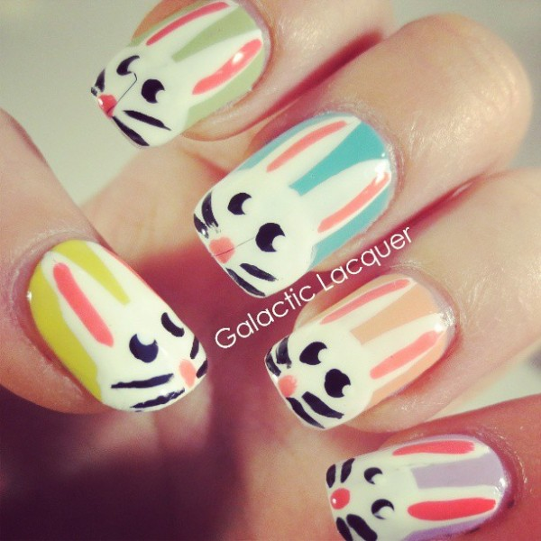 Easter Bunny Nail Art Designs
