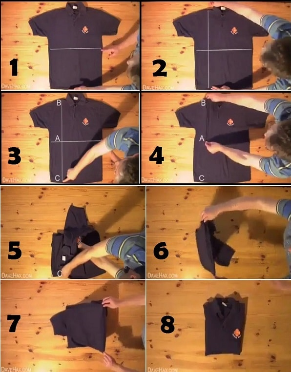Amazing Simple Way How To Fold A Shirt In A Couple Of Seconds