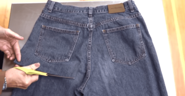 She Cuts The Legs Off This Old Pair Of Jeans. The end result? Youll Want This Immediately