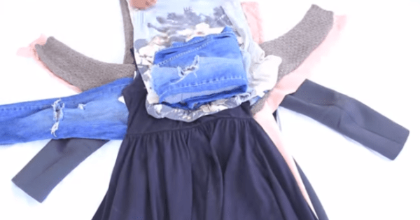 You Will Never Worry About Forgetting Your Clothes At Home Again After You See This Amazing Packing Trick