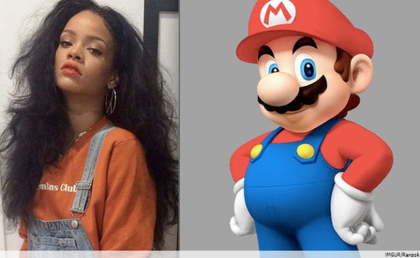 6 Rihanna Outfits That Cosplaying All The Characters of Super Mario Party