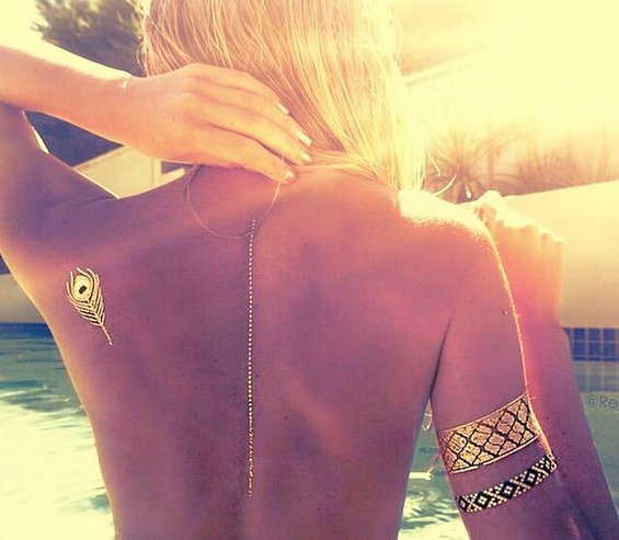 True Summer Hit   Amazing, Jewelry Inspired Metallic Temporary Tattoos