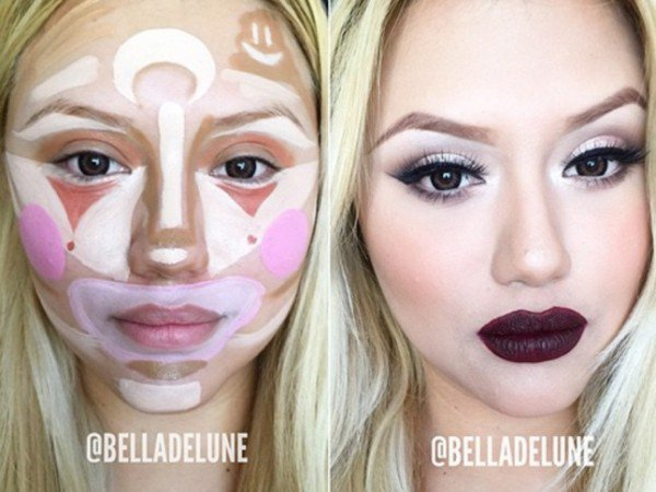New Make Up Technique   Clown Contouring ,The Final Result Is Surprisingly Amazing