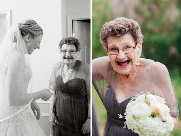 Bride Invites 89 Year Old Grandma To Be A Bridesmaid At Her Wedding And It Was Amazing