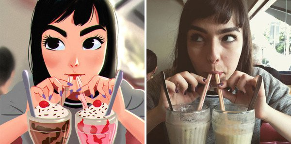 Brilliant Art: The Artist Turns Photos Of Random People Into Interesting Illustrations