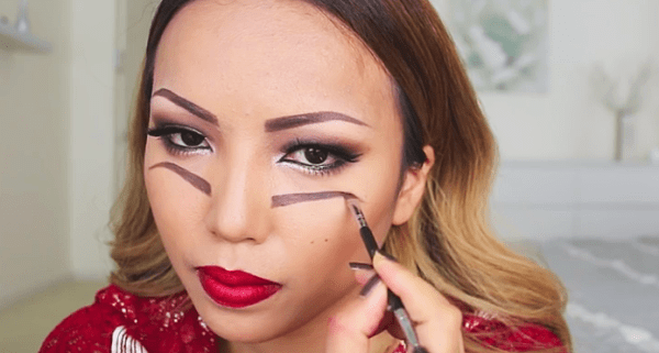 She Draws Eyebrows Under Her Eyes. When Shes Done? Absolutely Brilliant!
