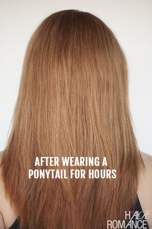 The Most Useful Trick That Every GIrls Will Love: How To Avoid The Ponytail Dent