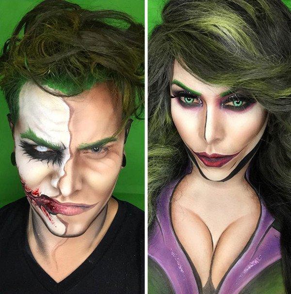 Creative Makeup Artist Turns Himself Into Superheroes Using Just Makeup