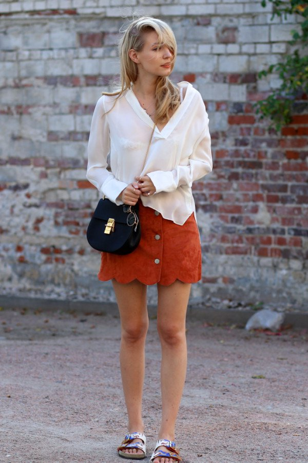 Stylish Inspirational Fall Fashion Combinations With Skirts