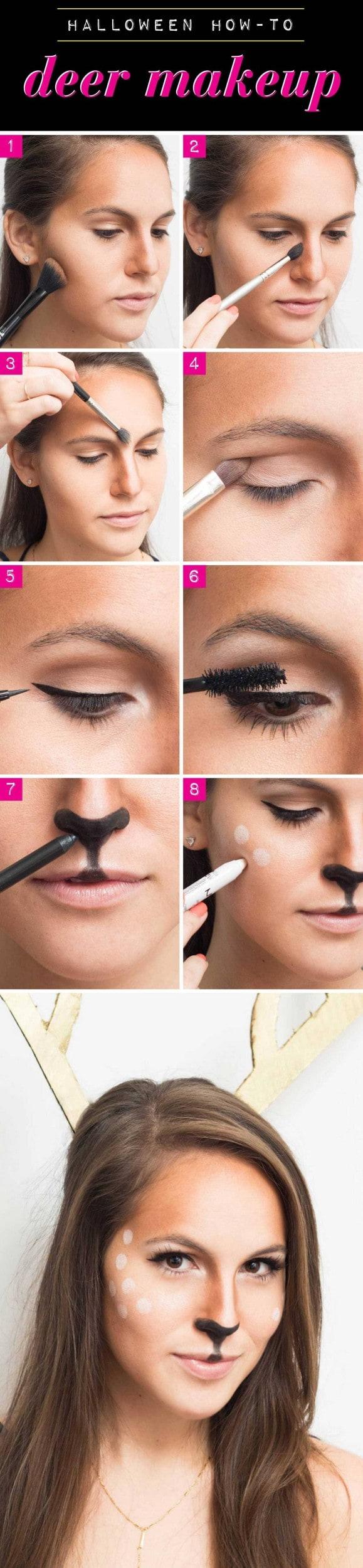 Easy Deer Makeup Tutorial | Saubhaya Makeup