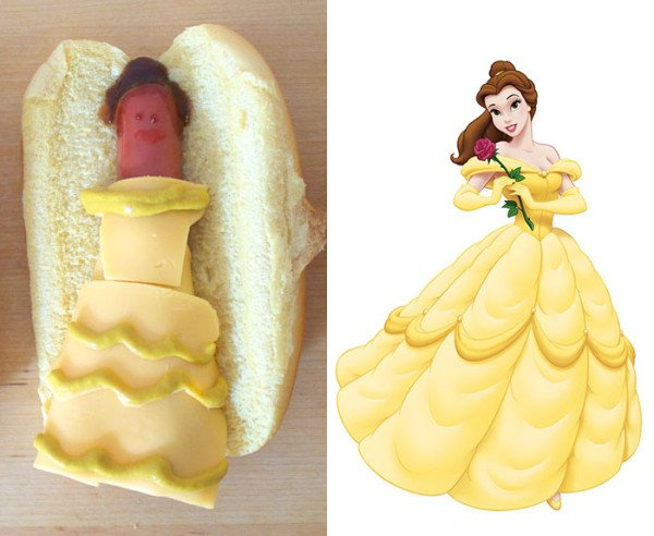 Here's What Disney Princesses Looks Like If they Were Reimagined As Hot Dogs
