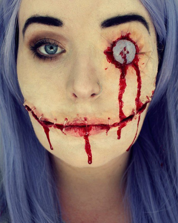14 Jaw Dropping Scary Face Ideas For Halloween