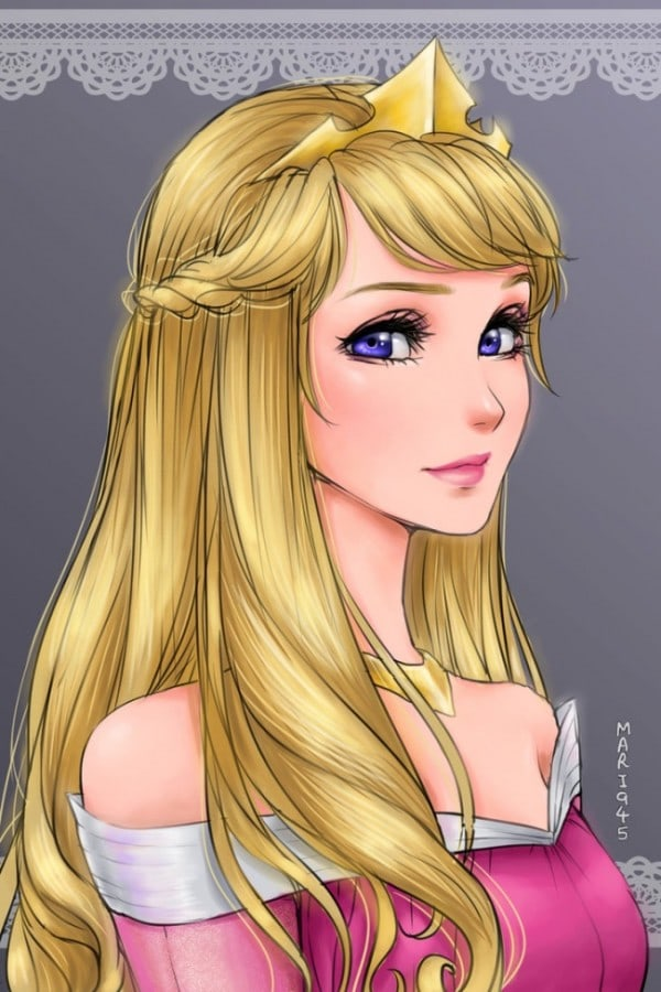 See What Disney Princesses Would Look Like If They Were Anime Characters