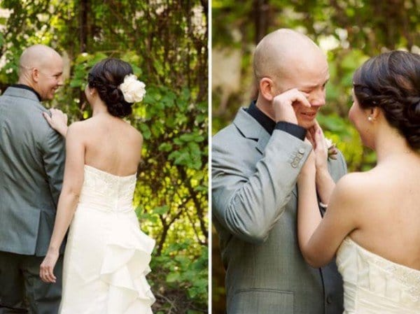 The Emotional Moment When A Man Sees His Bride To Be For The First Time