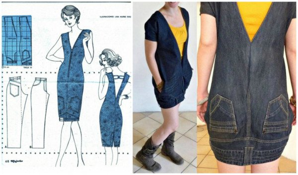 How To: Turn Your Jeans Upside Down And Transform Them Into A Fun Dress