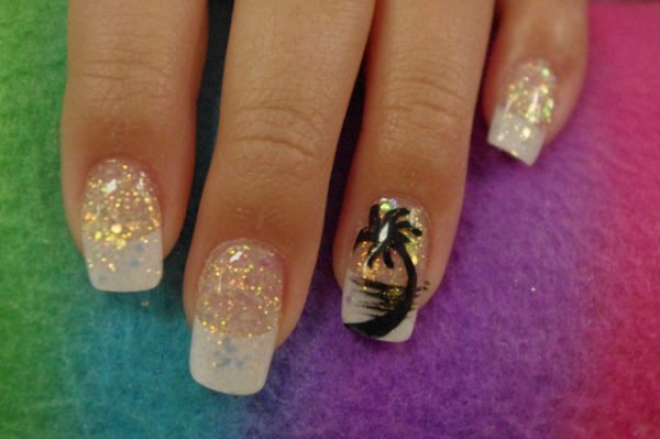 15 Super Cool Tropical Nail Art Designs For Summer
