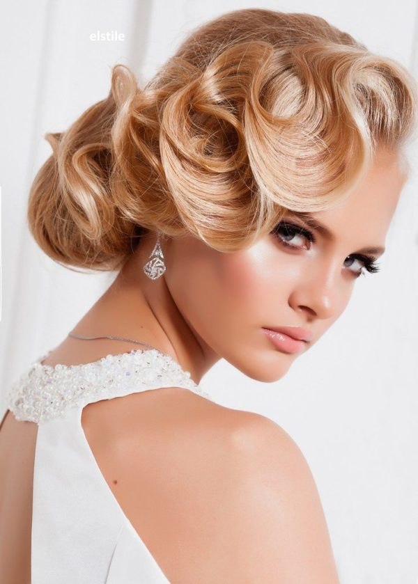 19 Sweet Fascinating and Graceful Ideas for Bridal Hairstyles