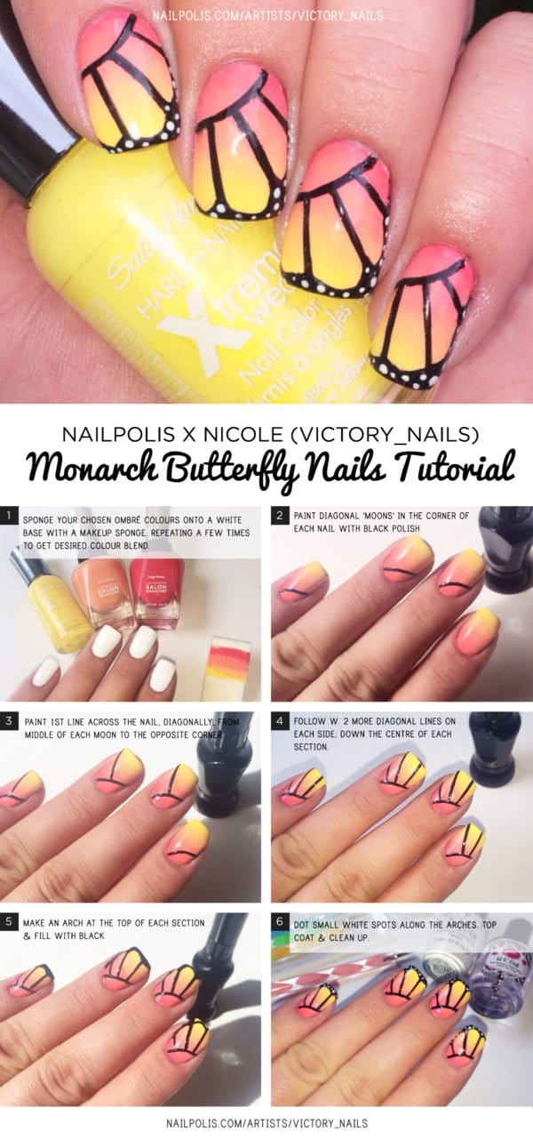 10 Summer Inspired Pretty Nail Art Tutorials and Methods